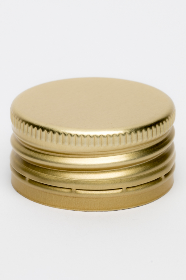 Alkork PP 35x18 - zlatá se závitem