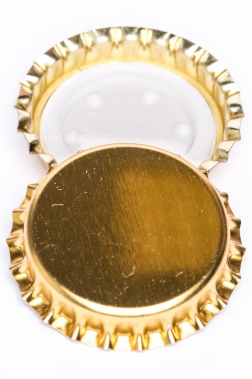 Korunka sekt 29 mm - zlatá