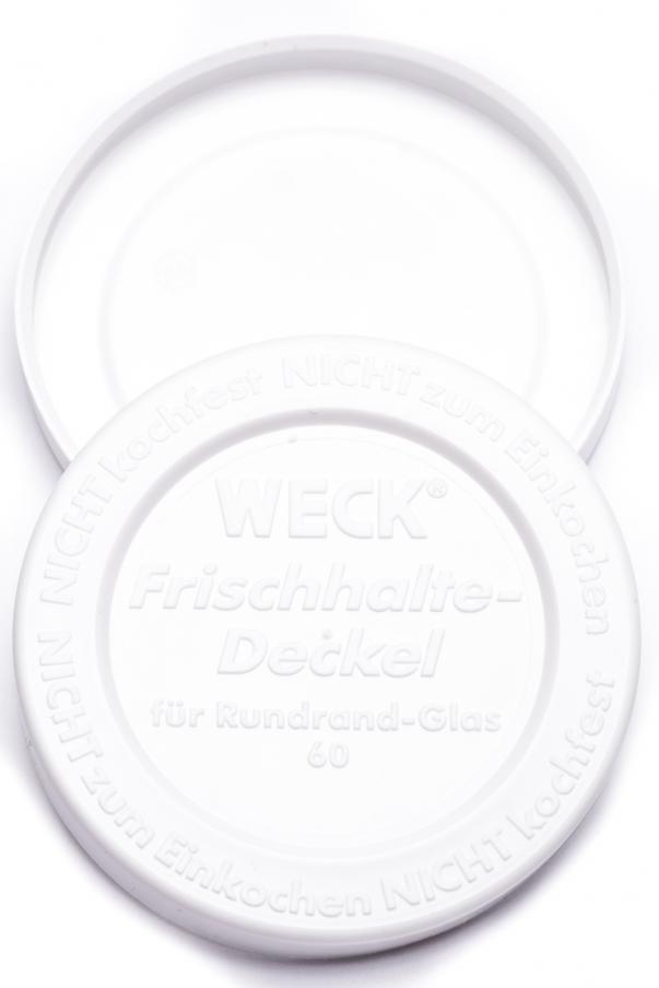 Weck - těsnící víčko RR 60 - bílá