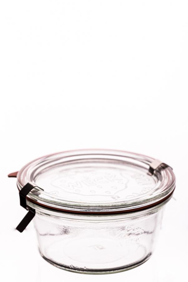 Weck - Sturz 0,29 l - komplet: sklenice, víčko, gumička, 2xspona