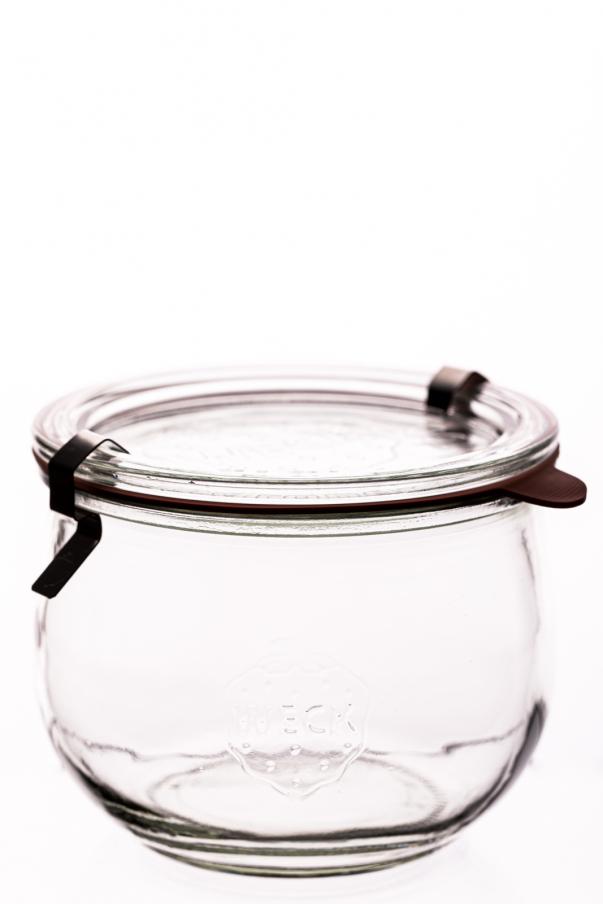 Weck - Tulpen 0,58 l - komplet: sklenice, víčko, gumička, 2xspona
