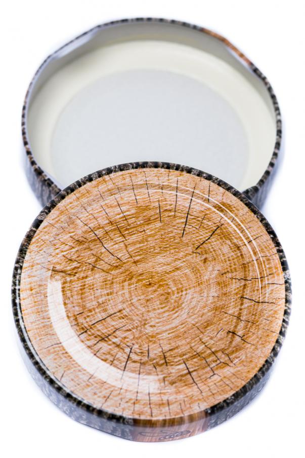 Víčko TO 66 deep - imitace dřeva s včelkou
